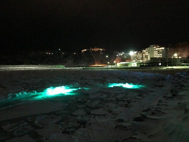知床流氷フェスライトアップ
