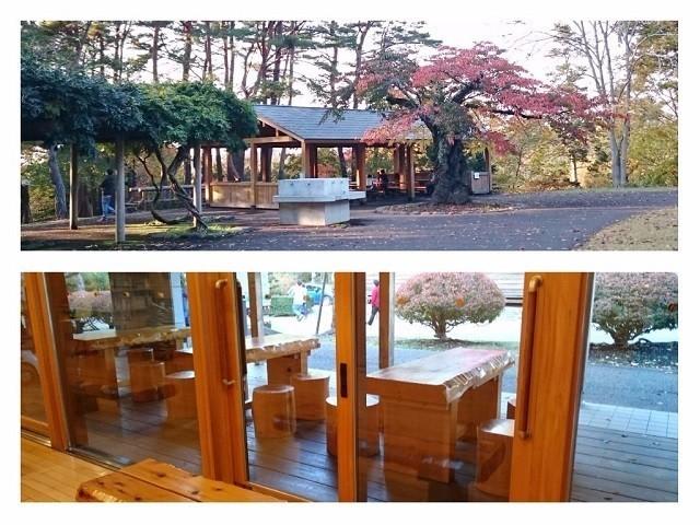 香雪園の休憩所