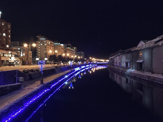 小樽運河のイルミネーション
