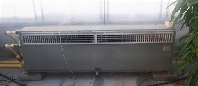 ハウスを温める機械