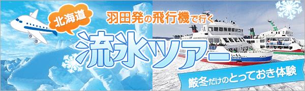 羽田発流氷ツアー特集