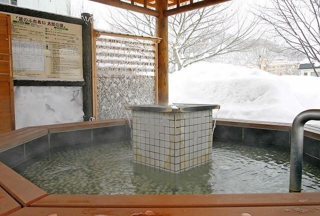 定山渓温泉足湯