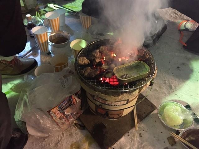 北見厳寒の焼き肉まつり