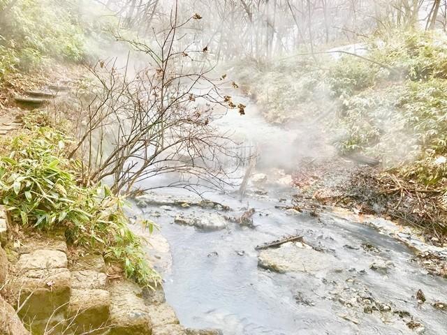 大湯沼川の足湯