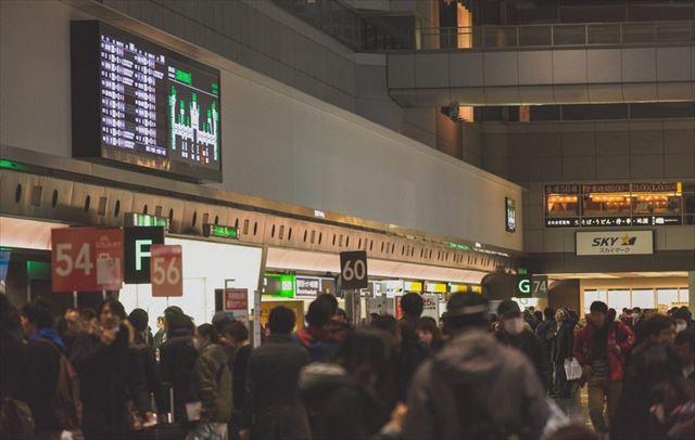 北海道 欠航 混雑する空港