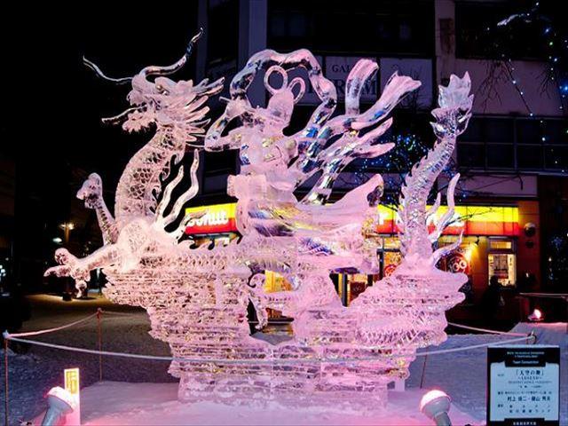 北海道 旭川冬まつり 氷彫刻世界大会
