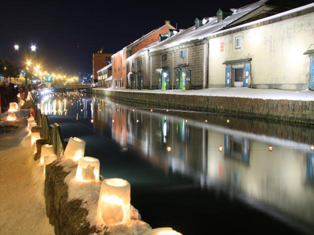 北海道 小樽運河 小樽雪あかりの路