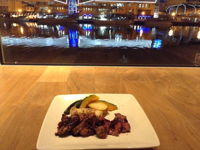 釧路倶楽部 星空の黒牛 ランプ肉のスキレットステーキ