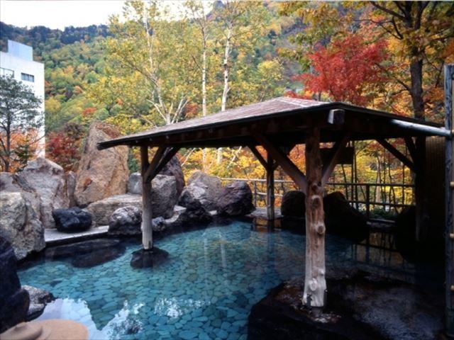 層雲峡温泉 露天風呂と紅葉