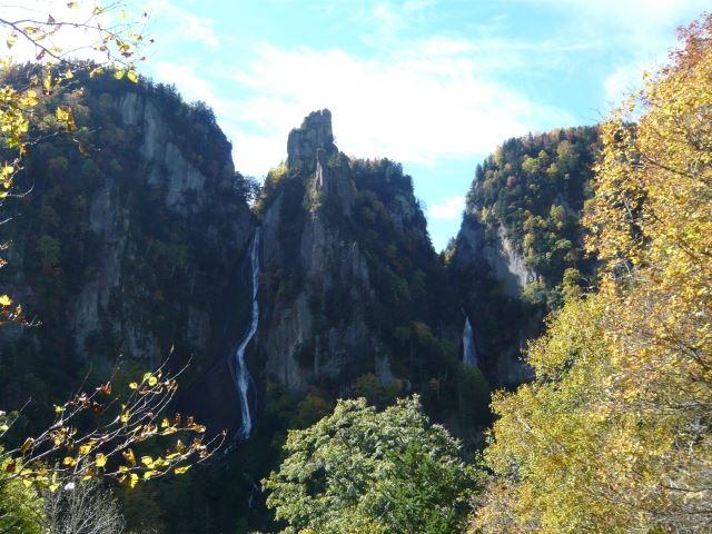 層雲峡温泉 流星の滝と銀河の滝
