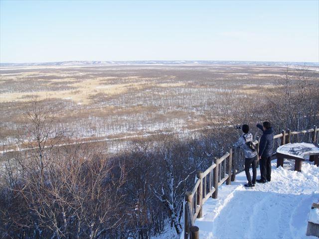 釧路湿原 冬のサテライト展望台