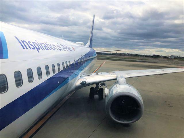 伊丹空港 ANA 飛行機 搭乗