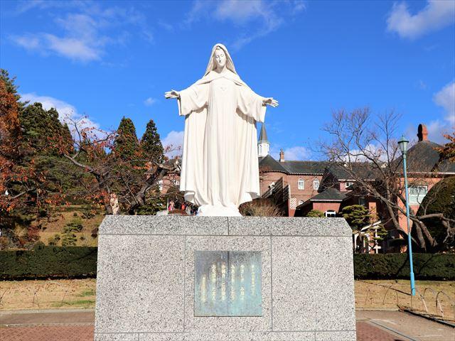 函館 トラピスチヌ修道院 慈しみの聖女マリア像