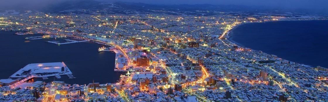 冬の函館 夜景