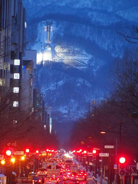 さっぽろ観光 あいのりタクシー 冬の札幌
