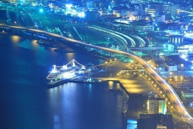 北海道 船 函館の夜景
