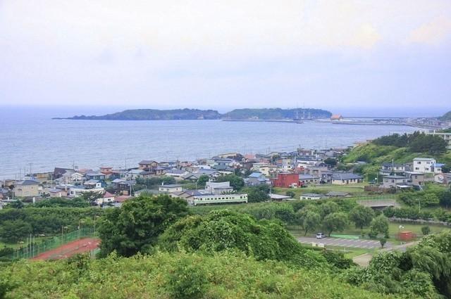 北海道 船 江差町の風景