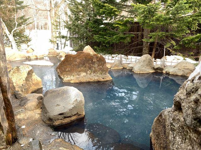 ホテル阿寒湖荘 庭園露天風呂・鹿鳴の湯