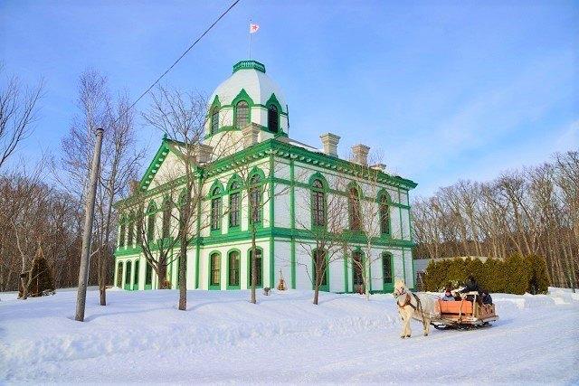 札幌 雪遊び 北海道開拓の村 馬ぞり観光