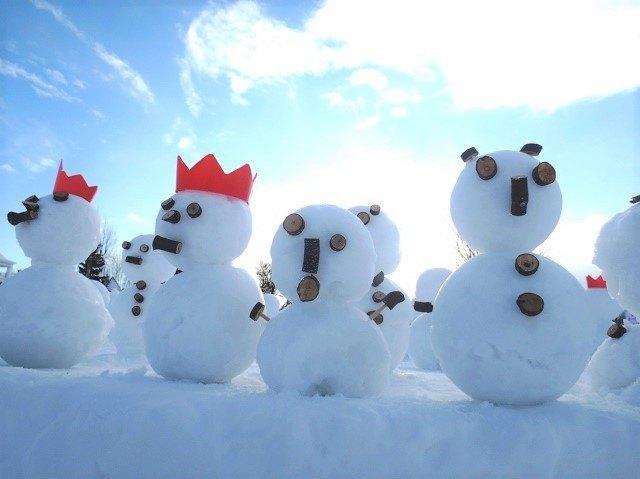 札幌 雪遊び さっぽろ羊ヶ丘スノーパーク 雪だるま