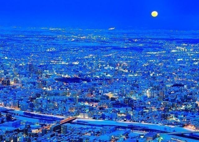 札幌 雪遊び 藻岩山ロープウェイ 夜景