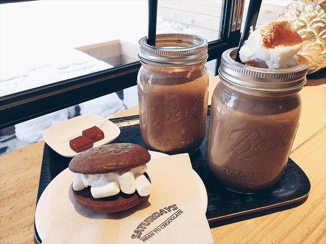 札幌 インスタ映え カフェ Saturdays Chocolate Factory チョコメニュー