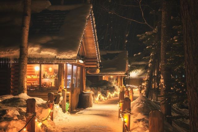 ニングルテラス 冬 夜のライトアップ