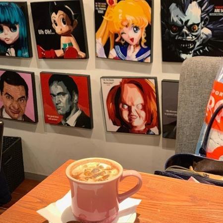 ワールドブックカフェ マシュマロ入りのカフェオレ