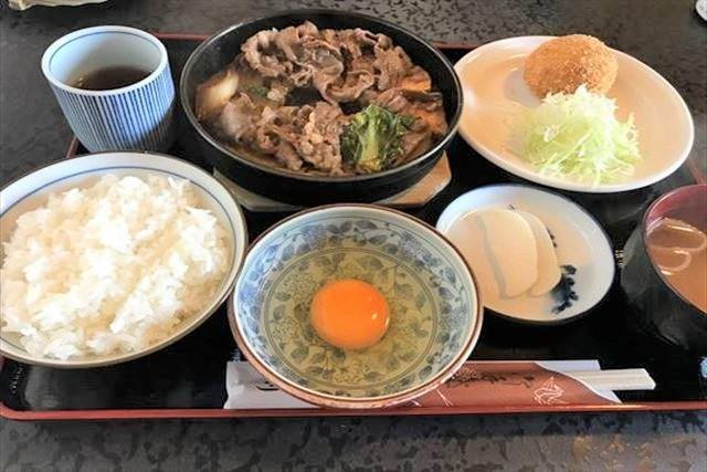 阿佐利 すき焼き ランチメニュー 料理の写真