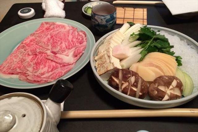阿佐利 すき焼き すき焼きコース 料理の写真