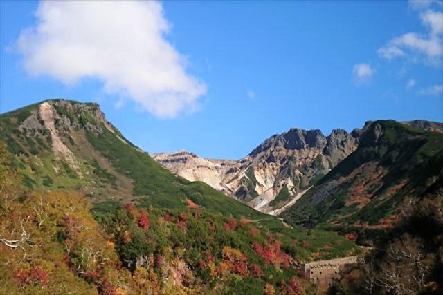 北海道 登山 中上級 十勝岳 紅葉