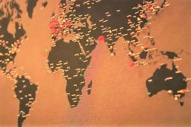 サッポロッジ 世界地図