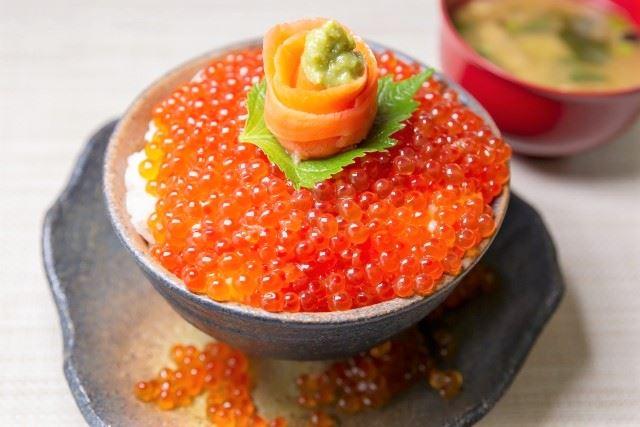 稚内 グルメ 海鮮 サケ いくら丼
