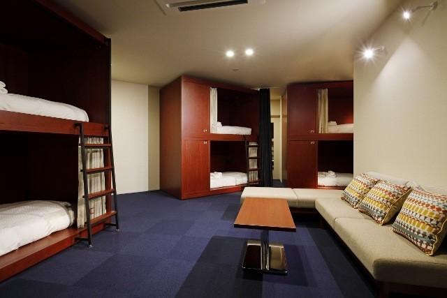 HakoBA 函館 2段ベッドを用いた客室