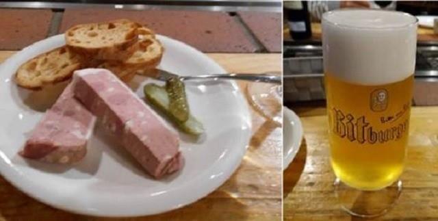 函館 ひかりの屋台 パテとドイツ産のビール