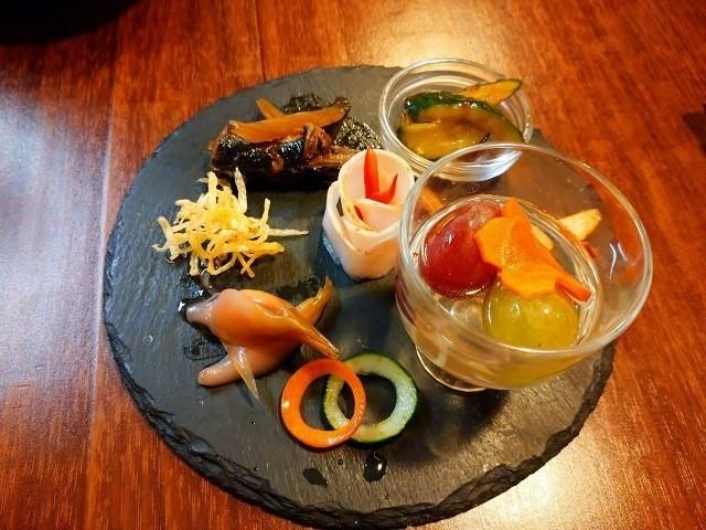函館 ひかりの屋台 酒肴 前菜5点盛り