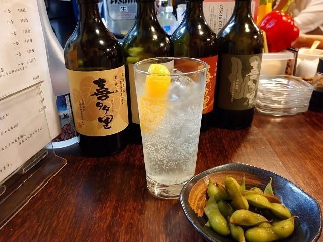 函館 ひかりの屋台 セットドリンク レモンサワー