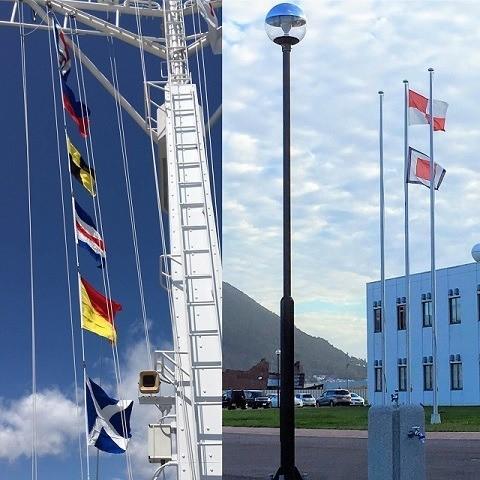 函と館 国際信号旗 実際に使われている様子