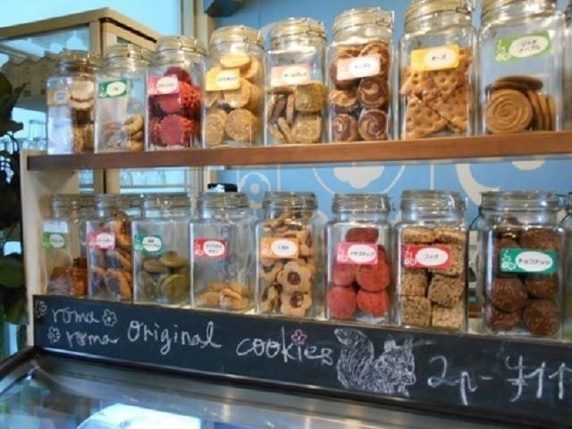 函館 カフェ ロマロマ  自家製のケーキとクッキー 20種類のオリジナルクッキー