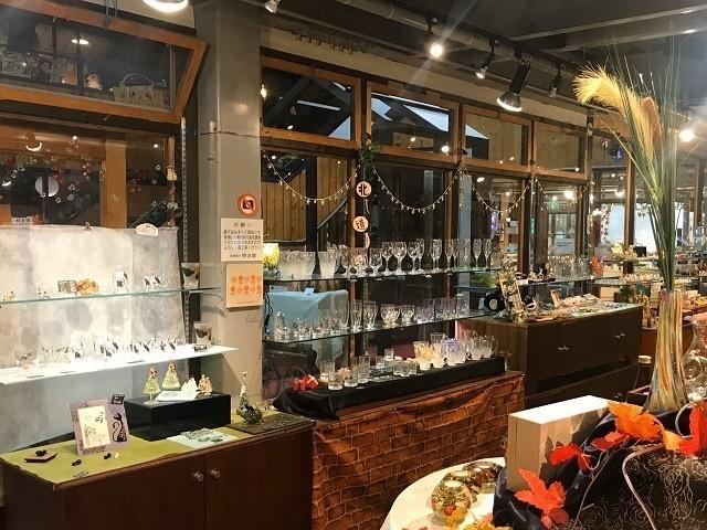 函館 明治館 ガラス明治館 ヴェネチアンガラスを使った製品