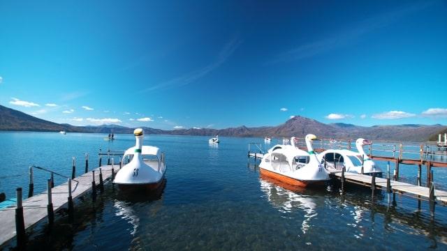 支笏湖 ボート
