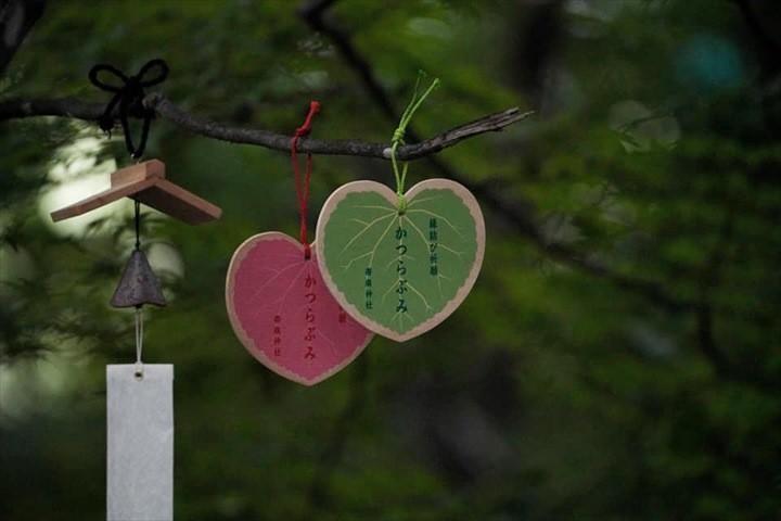 帯廣神社 桂の葉 絵馬