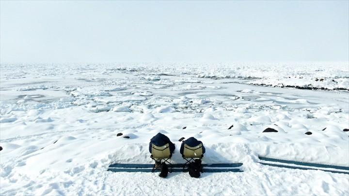 知床 観光 流氷浴
