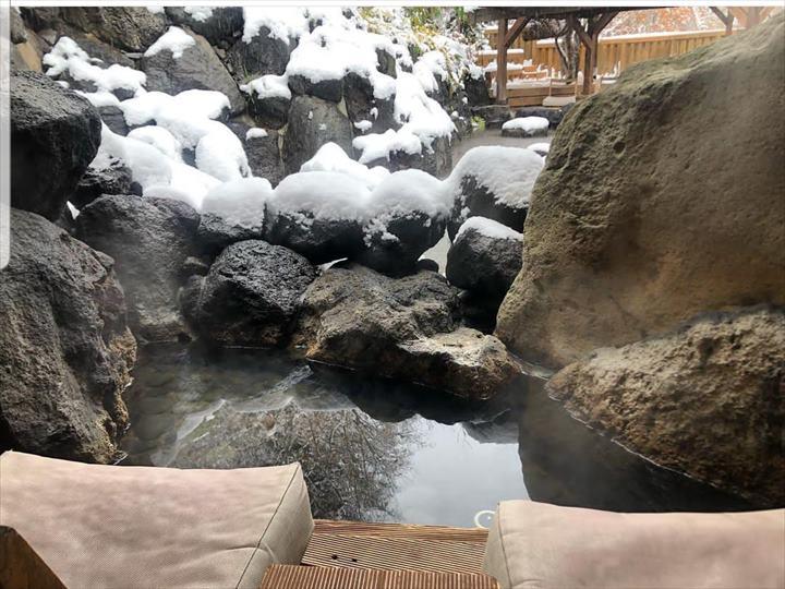 心の里 定山 雪見風呂