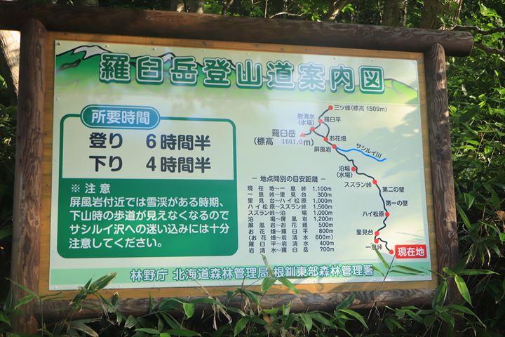 羅臼岳 コース
