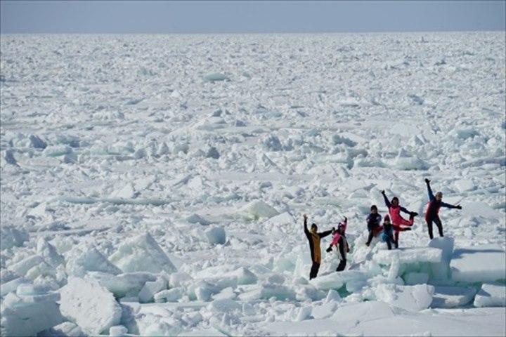 流氷 モデルコース 流氷ウォーク