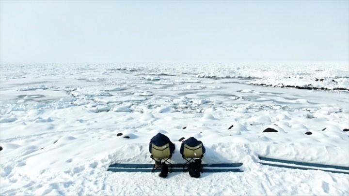 流氷 モデルコース 流氷浴