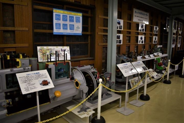 北海道鉄道技術館 エンジンカットモデル