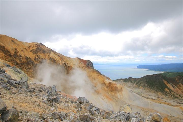 恵山 登山 火口