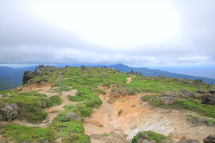 恵山 登山 山頂付近